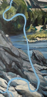 Wild River (Glacier National Park), oil on canvas, 2018