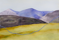 Cairngorm trail, 2019, Watercolor and Gouache on paper